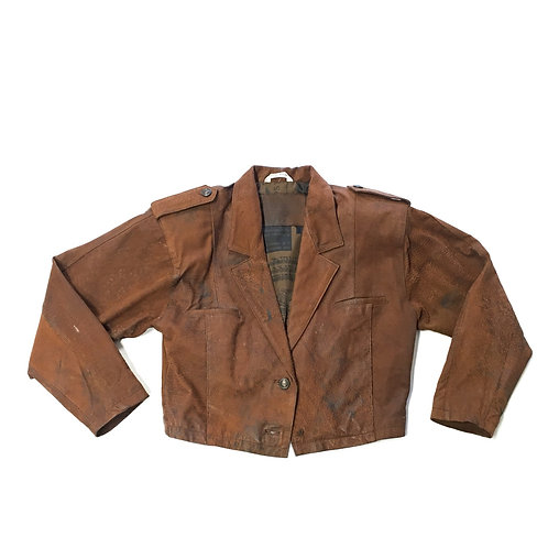 Rugged Brown Leather Jacket