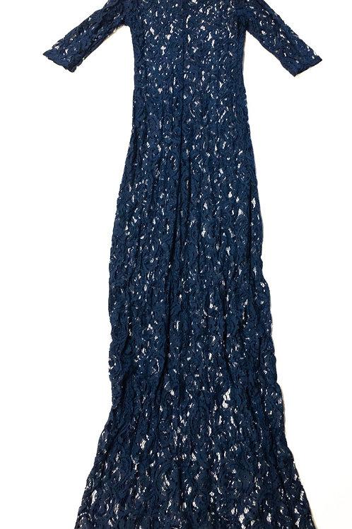 Lace Maxi Cold Shoulder Dress