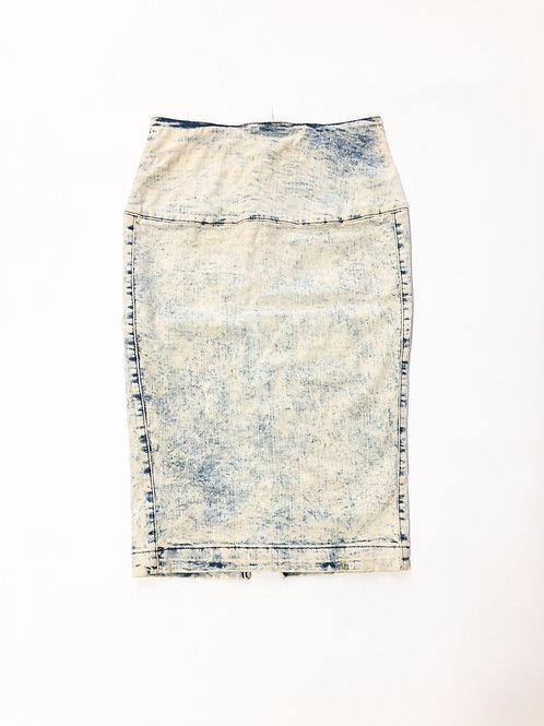 High Waist Denim Stretch Skirt