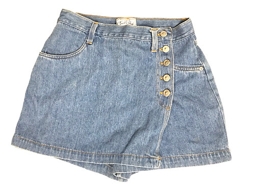 True Blue Denim Button Skort