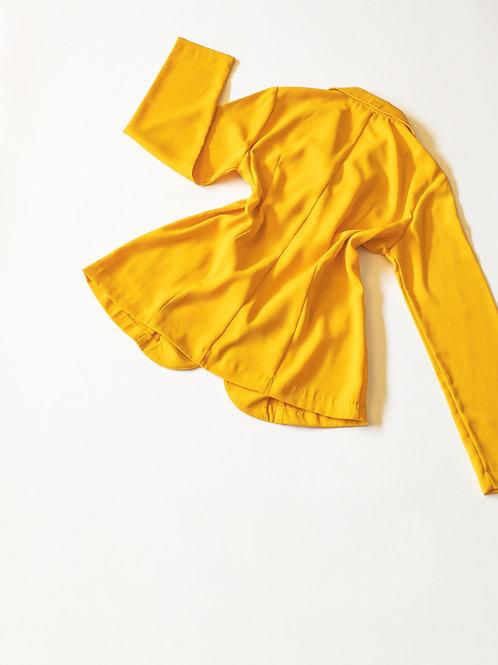 Yellow Pocket Blazer