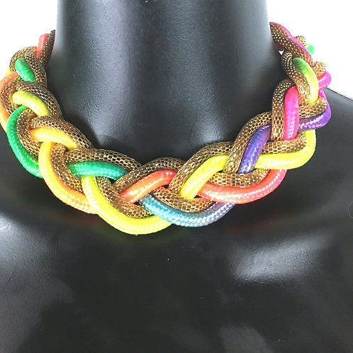 Multicolor Braided Choker