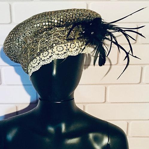 Gold Sequin Vintage Hat