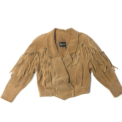 Learsi Tan Fringe Jacket