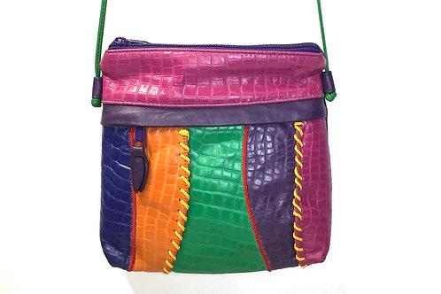 Park Avenue International Leather Colorblock Crossbody Bag