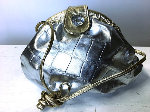 Silver and Gold Metallic Bag