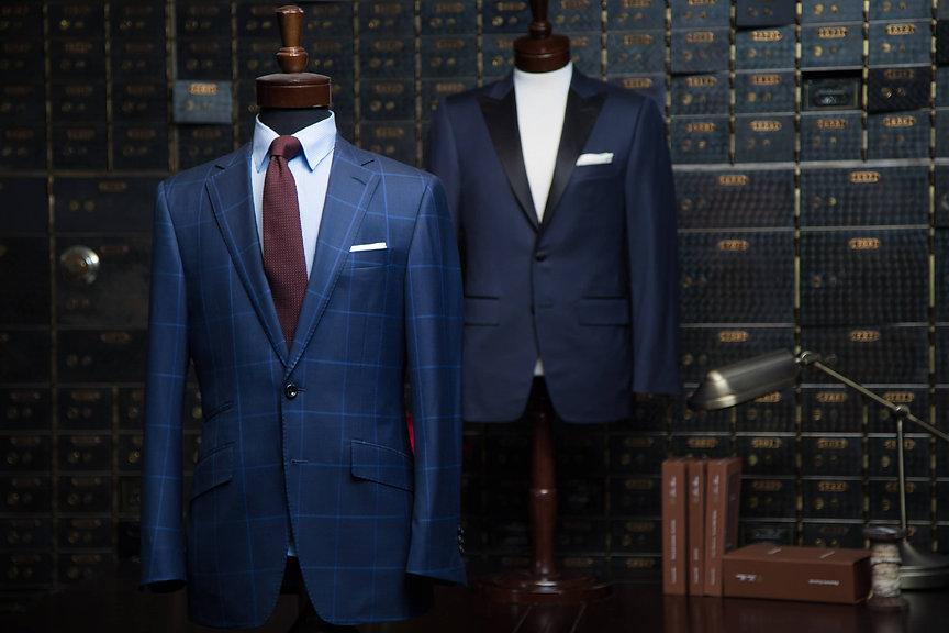 Custom navy suits