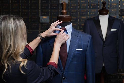 Styling a custom Navy Window Pane Suit