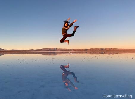 烏尤尼鹽湖上的倒影 Salar De Uyuni