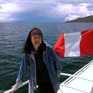 的的喀喀湖中的那些島和那些人 Lake Titicaca