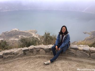 厄瓜多爾美麗的火山口湖 之 南美搭便車初體驗 Hitchhiking in Quilotoa