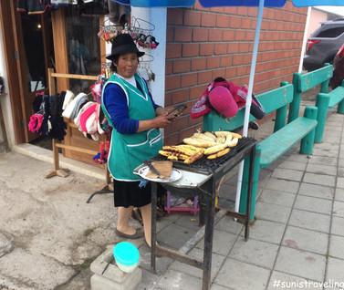 賣烤香蕉的女人