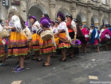 Latacunga街上的慶祝會
