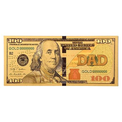 DAD GOLD $100 MAGNET