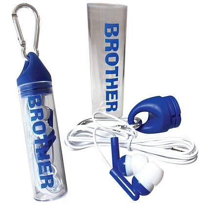 BROTHER EARBUDS CARABINER CLIP CANISTER