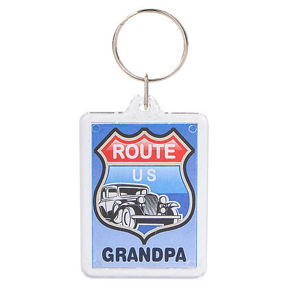 GRANDPA PHOTO KEYCHAIN