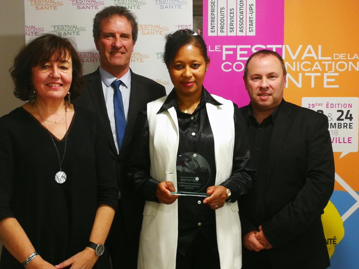 remise du prix remporté au festival de communication santé 2019