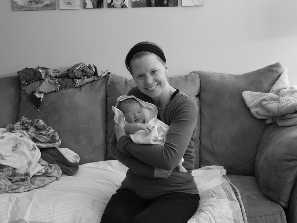 Proud doula & beautiful baby