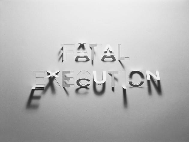 Fatal Execution, hand-cut paper, 29 x 42