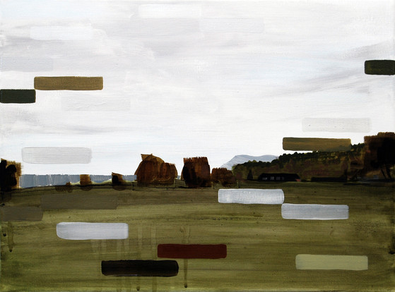 Hostiles, 2013, oil and acrylic on canvas 23 x 30 cm  • Private collection