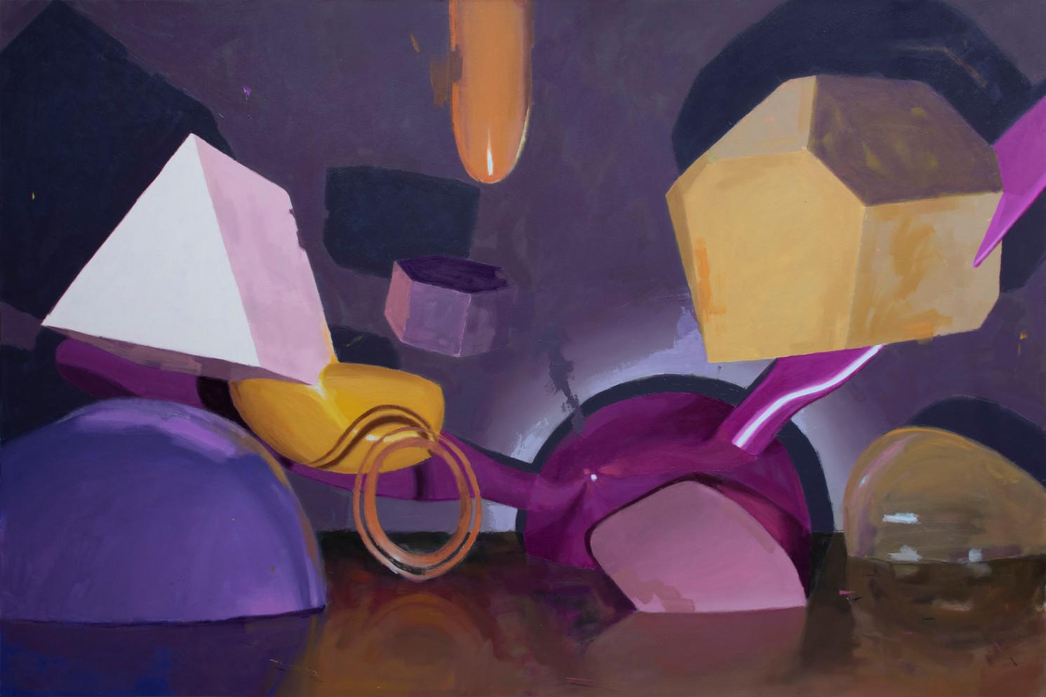 Hard Jelly, 2020, oil on canvas, 120 x 180 cm