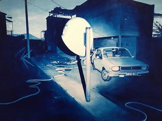 Slums, 2016, oil on canvas 90 x 150 cm   • University of Western Australia collection