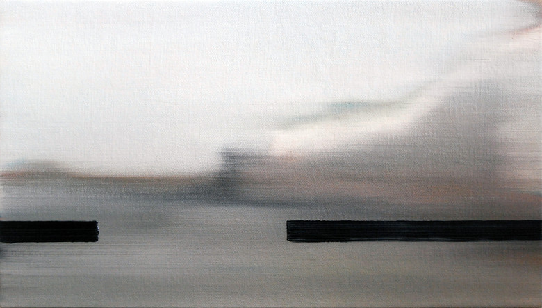Render Bender, 2014, oil on canvas, 25 x 46 cm  • Private collection