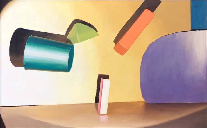 Composition I, 2018, oil on canvas 100 x 153 cm  • Available