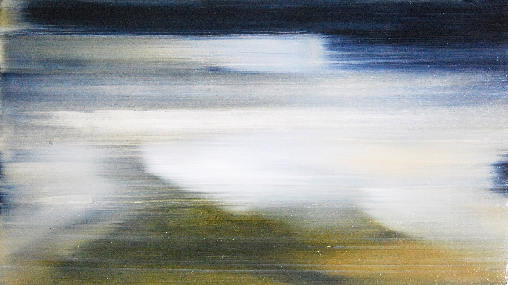 Debris 1, 2015, oil on wood panel 12 x 20 cm  • Private collection