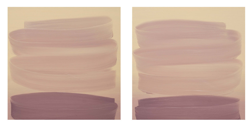 Simulus 5 (diptych), 2015, oil on wood panel 30 x 30cm each  • Destroyed