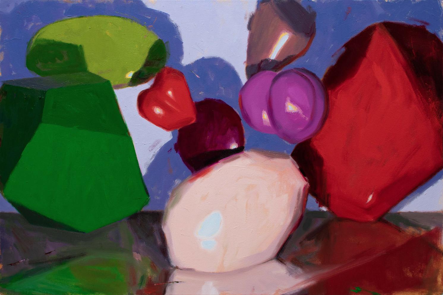 Koncrete Kandy, 2020, oil on canvas 50 x 75 cm