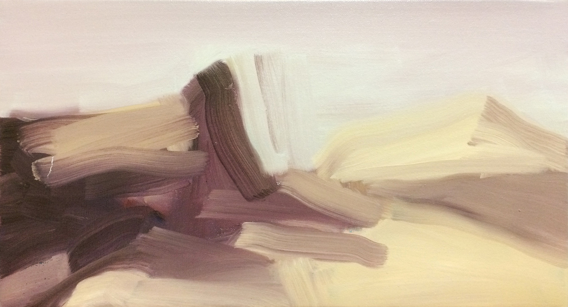 Levitate, 2015, oil on canvas, 25 x 45 cm   • Destroyed