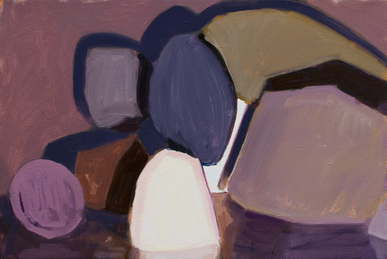 Crude Shells, 2020, oil on canvas, 29 x 43 cm  • Available