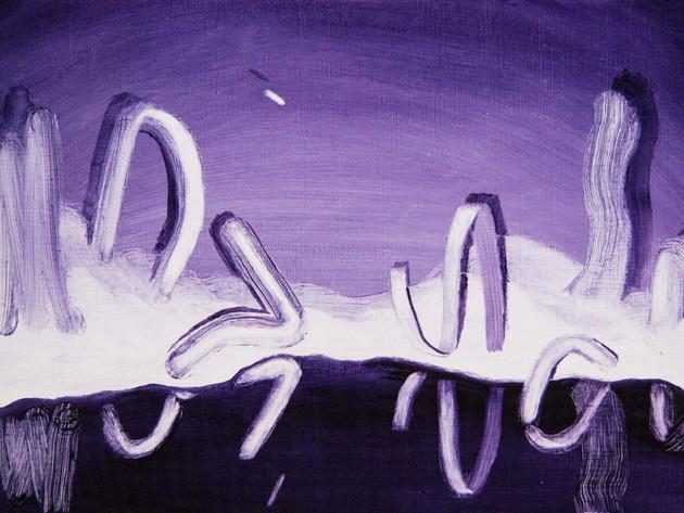 Purple Study, 2017, oil on wood panel 20 x 30 cm  • Available