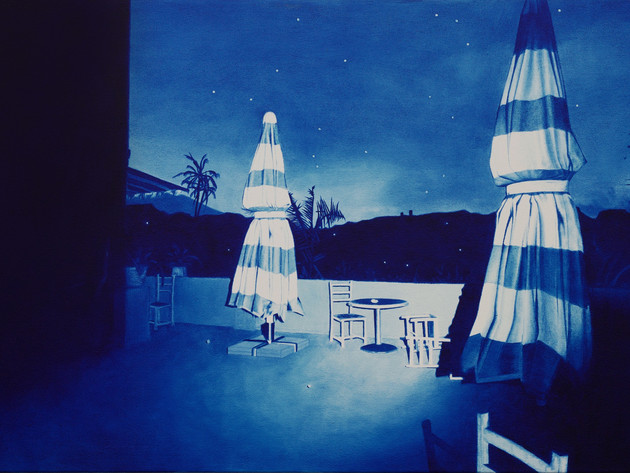 Alfresco Run, 2017, oil on canvas 53 x 80 cm  • Available