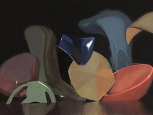 Dark Matter, 2019, oil on canvas, 106 x 166 cm   • Private collection