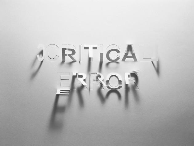 Critical Error, hand-cut paper, 29 x 42c