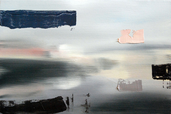 Mashup, 2014, oil on canvas, 25 x 46 cm  • Private collection