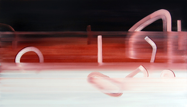 Daredevils, 2015, oil on canvas 58 x 103 cm   • Town of Victoria Park collection