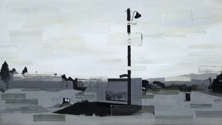 Sanity Check, 2013, oil and acrylic on board  • Private collection