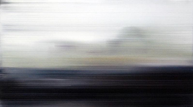 Terraform, 2014, oil on board, 19 x 35cm  • Available