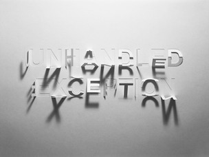 Unhandled Exception, hand-cut paper, 29
