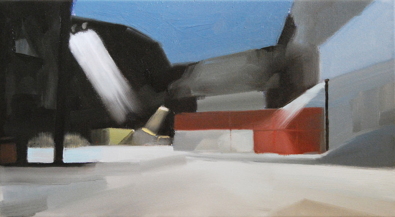Storage Space, 2014, oil on canvas, 25 x 46 cm   • Private collection
