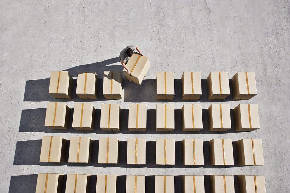 Entrega de caixas
