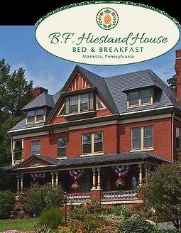 B.F. Hiestand House is a bed & breakfast on East Market Street in Marietta