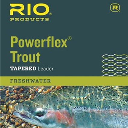 Rio Powerflex Trout 9' Tapered Leader Single Pack