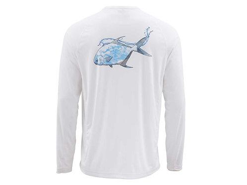Simms Solarflex Crewneck Shirt Graphic rintsP