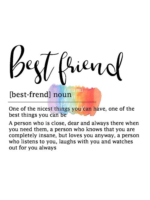 Best Friend Definition