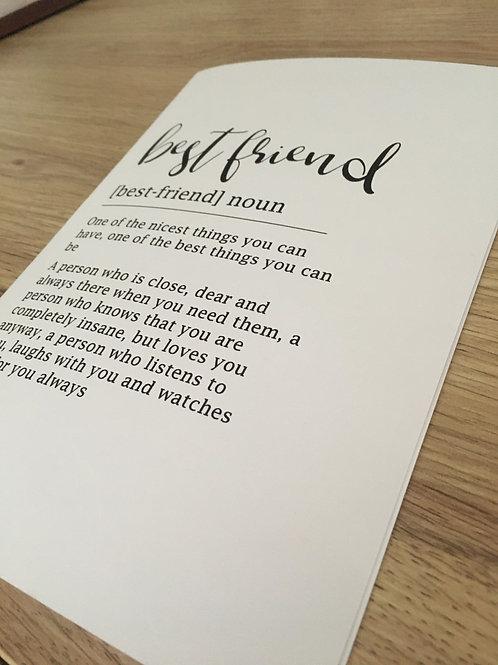 Definition Card R-W Font 1