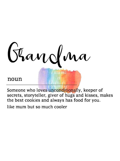 Grandma Definition